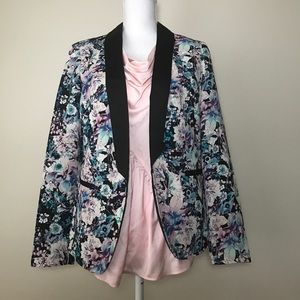 Floral Spring Blazer with pockets Size 6